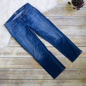 7 For All Mankind Straight Leg Cropped Jeans